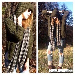 Sweaters - Luxurious Olives Robin Hood Mohair Hoodie Sweater!